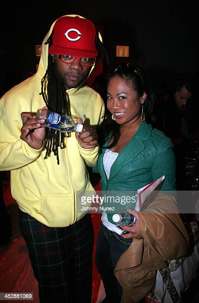 Coltrane Curtis and Joyce Sevilla during Olympus Fashion Week Fall 2006 Tracy Reese Front Row at The Promenade Bryant Park in New York City New York...