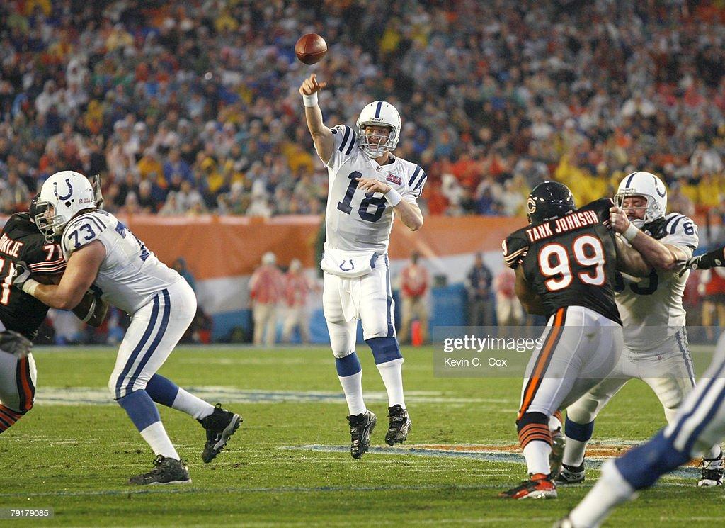 Super Bowl XLI - Indianapolis Colts vs Chicago Bears : News Photo