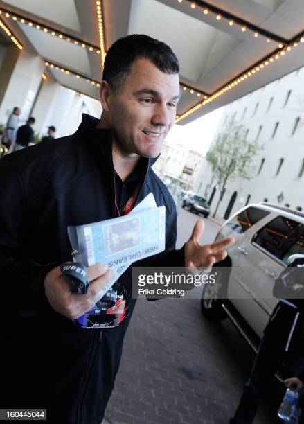 Colts placekicker Adam Vinatieri a 4time Super Bowl champion prepares to award a pair of Super Bowl tickets to a lucky fan on behalf of Barclaycard...