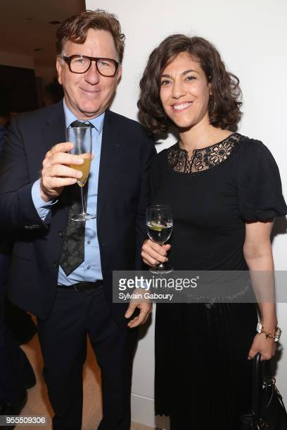 Colum Lynch and Carolyn Vadino attend Ambassador Grenell Goodbye Bash on May 6 2018 in New York City