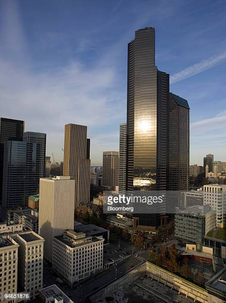 Columbia Center, an Equity Office property, rises above downtown Seattle, Washington on Wednesday, December 2, 2006. Just when everyone thought...
