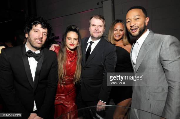Columbia Chairman & CEO Ron Perry, Rosalía, Sony Music Group Chairman Rob Stringer, Chrissy Teigen, and John Legend attend the Sony Music...