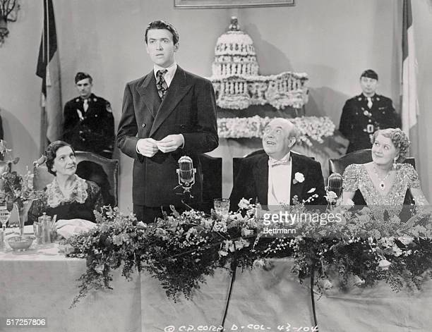 Columbia Pictures presents Frank Capra's Mr Smith Goes to Washington costarring Jean Arthur James Stewart with Claude Rains Edward Arnold Guy Kibbee...