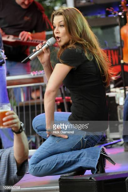 Columbia Records Recording Artist Gretchen Wilson performs at The 10th Annual GRAMMY Block Party and Membership Fair at Music Row in Owen Bradley...