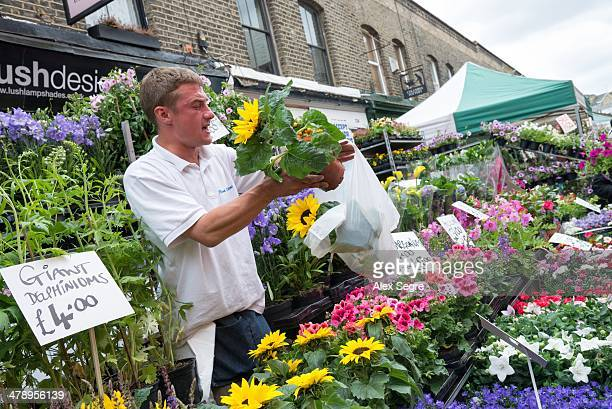 Columbia Road Flower Market East London UK