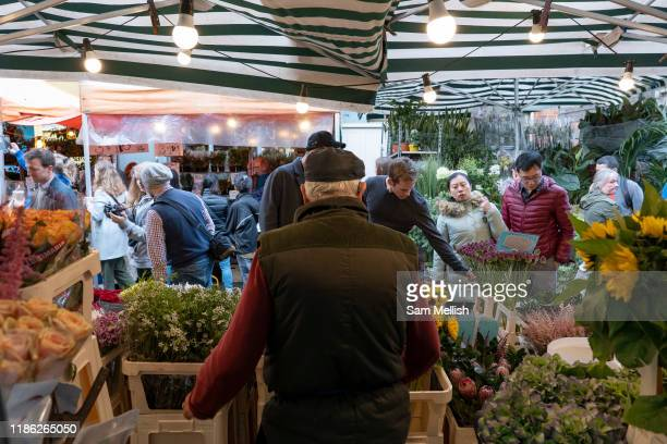Columbia Road Flower Market on the 6th October 2019 in London in the United Kingdom Columbia Road Flower Market is a street market in Bethnal Green...
