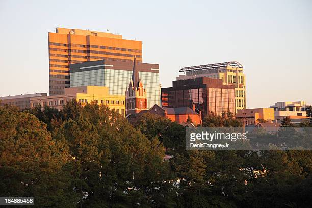 columbia skyline - columbia south carolina stock pictures, royalty-free photos & images
