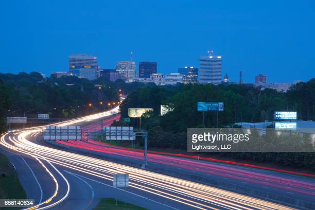 columbia, south carolina downtown skyline - columbia south carolina stock pictures, royalty-free photos & images