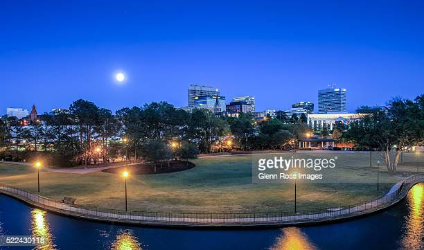 Columbia South Carolina skyline from Finlay Park