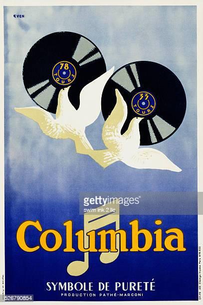 Columbia Symbole de Purete Phonograph Records Poster by Even