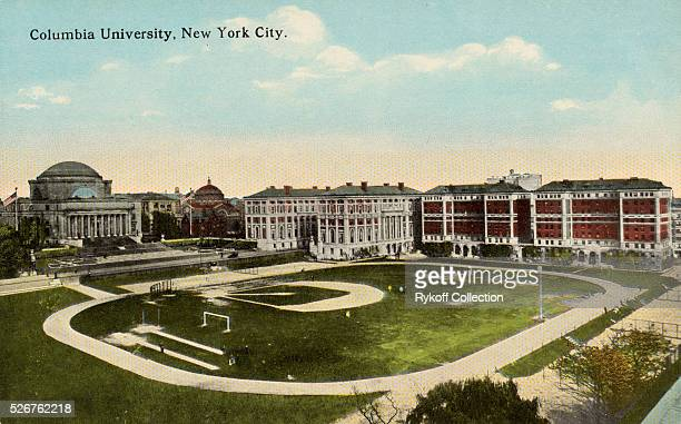 Columbia University New York City Columbia Universtiy occupies an area of 26 acres from Broadway to Amsterdam Avenue West and 114th to 120th Streets...