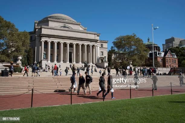 Columbia University New York USA The Library of Columbia University on the Upper West Side NYC