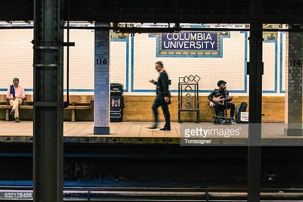columbia university station at new york subway - columbia university stock pictures, royalty-free photos & images