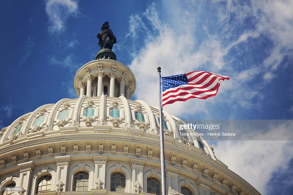 USA, Columbia, Washington DC, Capitol Building : Stock Photo