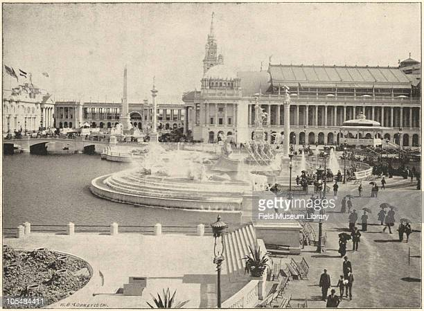 Columbian Fountain by Frederick MacMonnies Grand Basin World's Columbian Exposition Chicago Illinois 1896