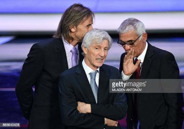 Columbia's national football team coach Jose Pekerman attends the Final Draw for the 2018 FIFA World Cup football tournament at the State Kremlin...