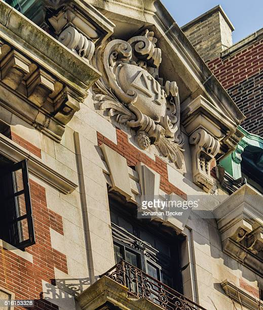 Columbia's Saint Anthony Hall's secret fraternity historical building is photographed for Vanity Fair Magazine on April 6 2015 in New York City