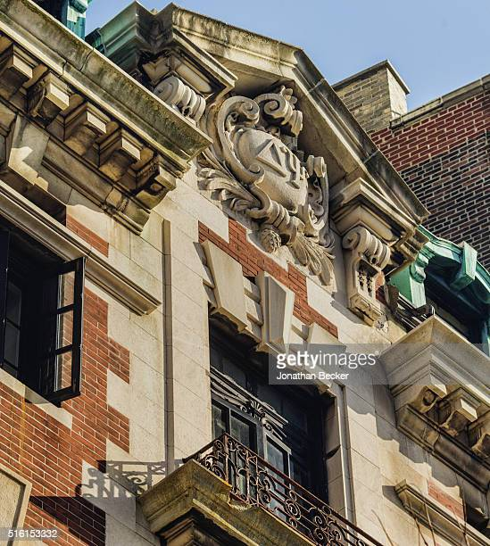 Columbia's Saint Anthony Hall's secret fraternity historical building is photographed for Vanity Fair Magazine on April 6 2015 in New York City...