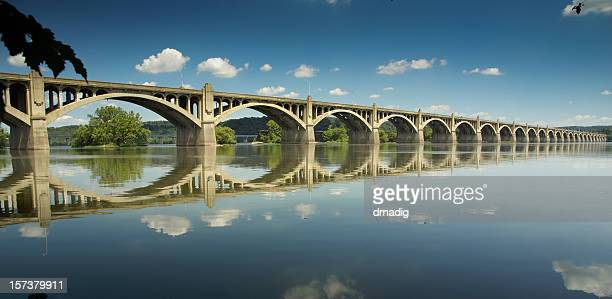 columbia-wrightsville bridge - lancaster county pennsylvania stock pictures, royalty-free photos & images