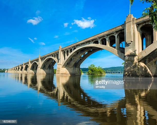 columbia-wrightsville bridge - pennsylvania stock pictures, royalty-free photos & images
