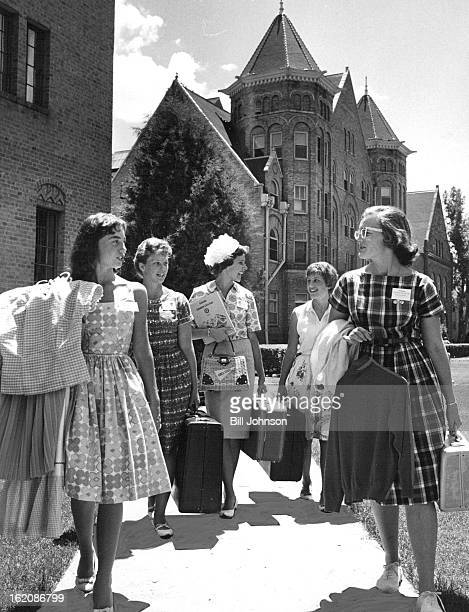 JUL 7 1961 Columbine Girls State Opens at CWC Among a record 300 high school juniors attending the 14th annual Colorado Columbine Girls State through...