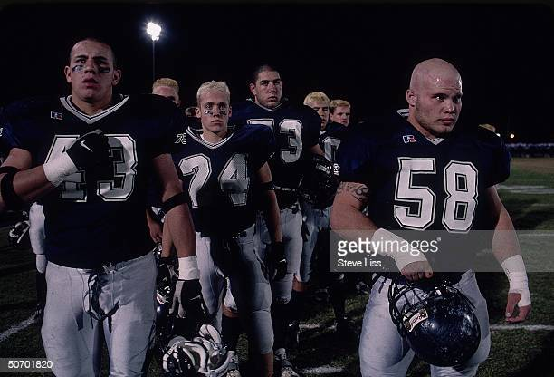 Columbine High School football team players during playoff game one of targeted groups of student gunmen Eric Harris Dylan Klebold in last April's...
