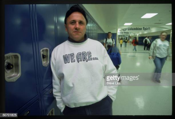 Columbine High School principal Frank DeAngelis at school sharing in revival of school spirit despite scars left from last April's massacre by...