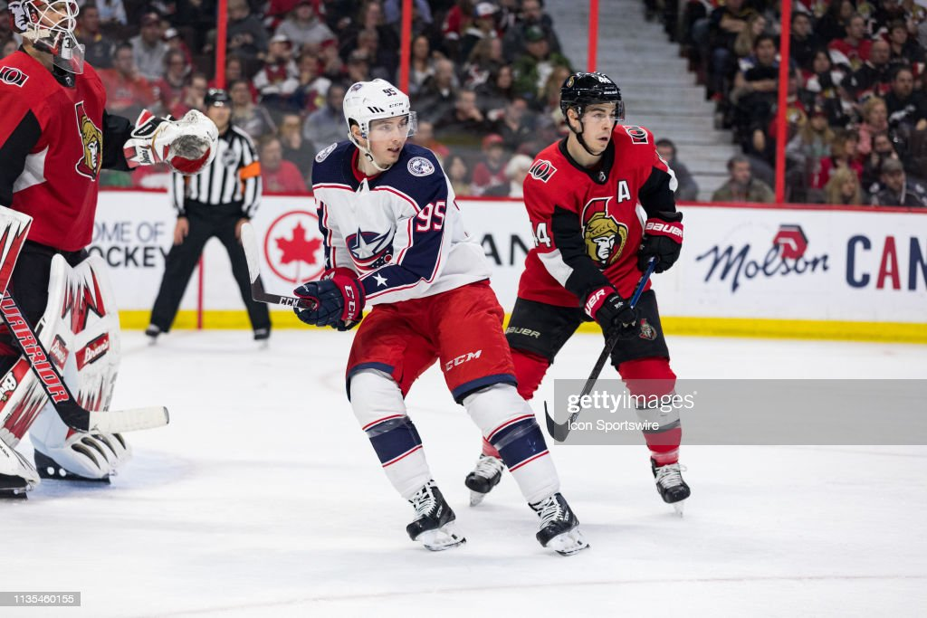 NHL: APR 06 Blue Jackets at Senators : News Photo