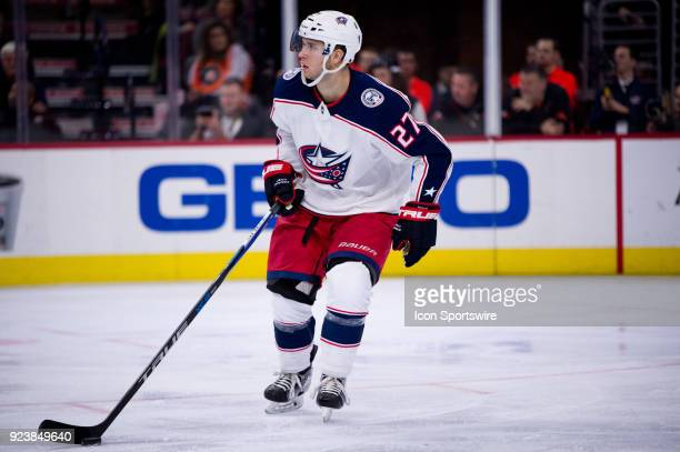 Columbus Blue Jackets Defenceman Ryan Murray skates through the defensive zone in the second period during game between the Columbus Blue Jackets and...