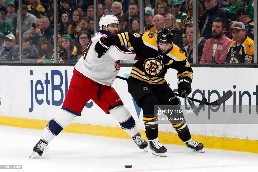 NHL: MAR 16 Blue Jackets at Bruins : News Photo