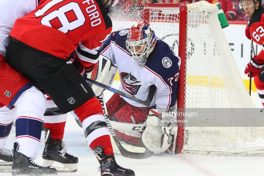 NHL: FEB 20 Blue Jackets at Devils : News Photo