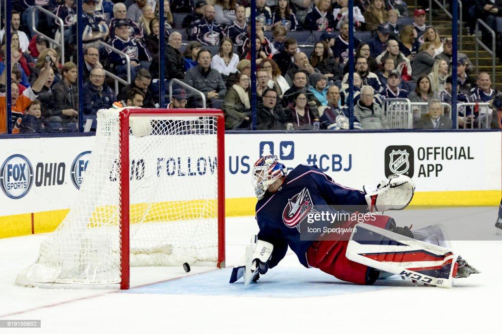 NHL: FEB 16 Flyers at Blue Jackets : News Photo