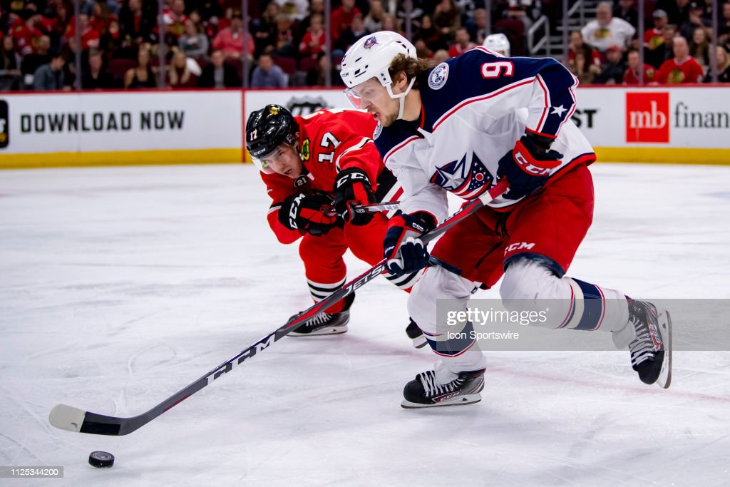 NHL: FEB 16 Blue Jackets at Blackhawks : News Photo