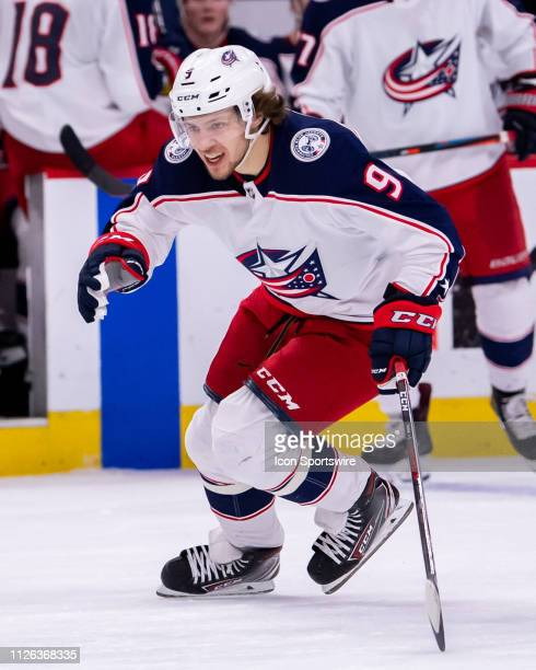 Columbus Blue Jackets left wing Artemi Panarin in action during a game between the Columbus Blue Jackets and the Chicago Blackhawks on February 16 at...