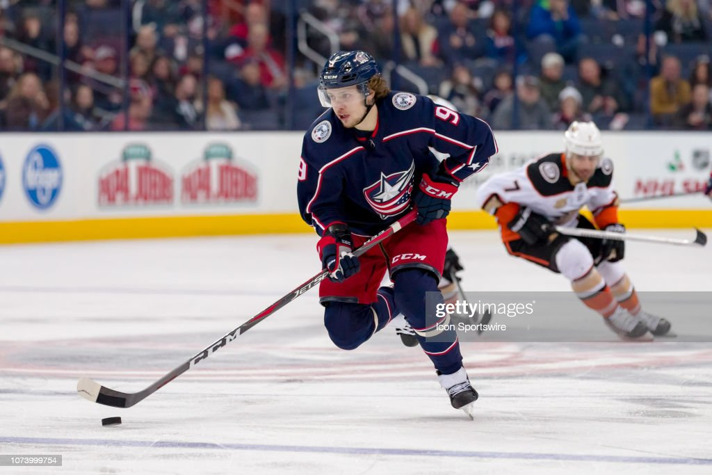 NHL: DEC 15 Ducks at Blue Jackets : News Photo