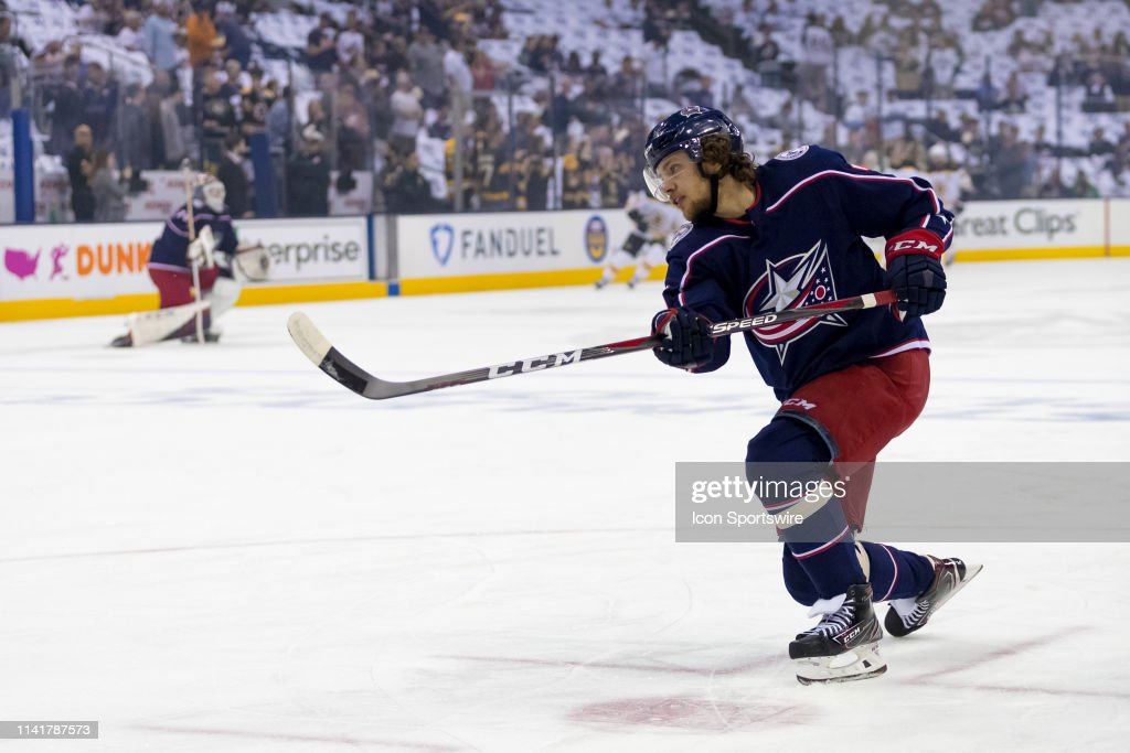 NHL: MAY 06 Stanley Cup Playoffs Second Round - Bruins at Blue Jackets : News Photo