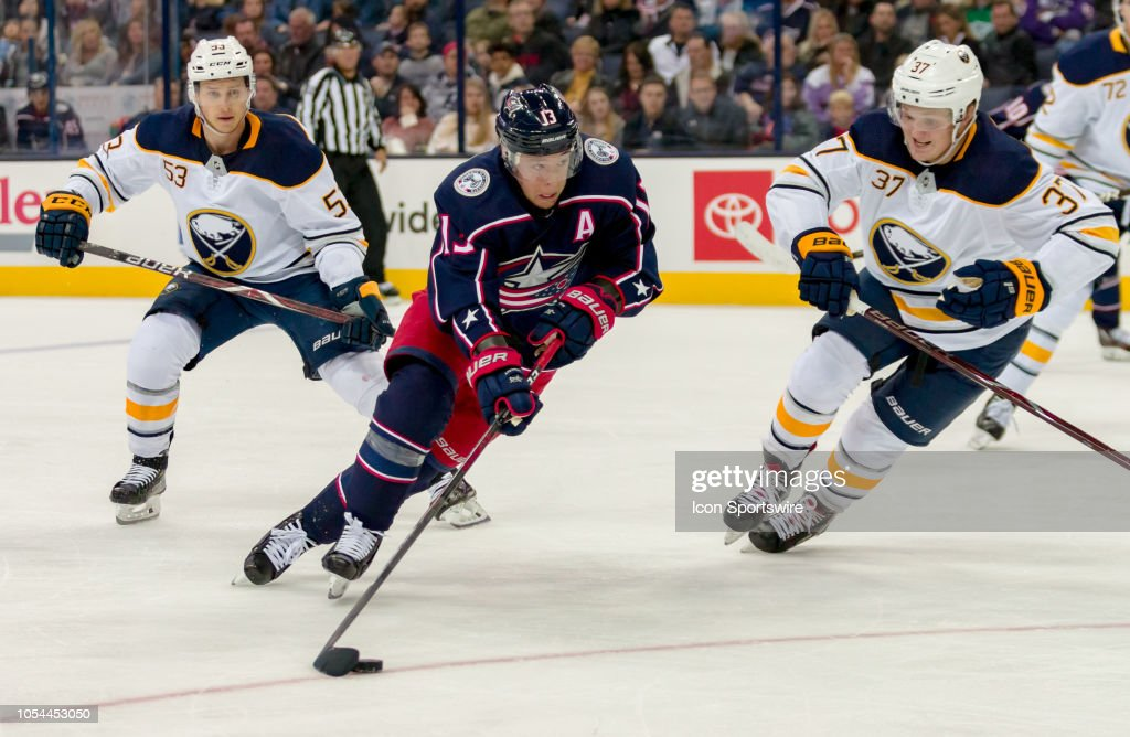 NHL: OCT 27 Sabres at Blue Jackets : News Photo