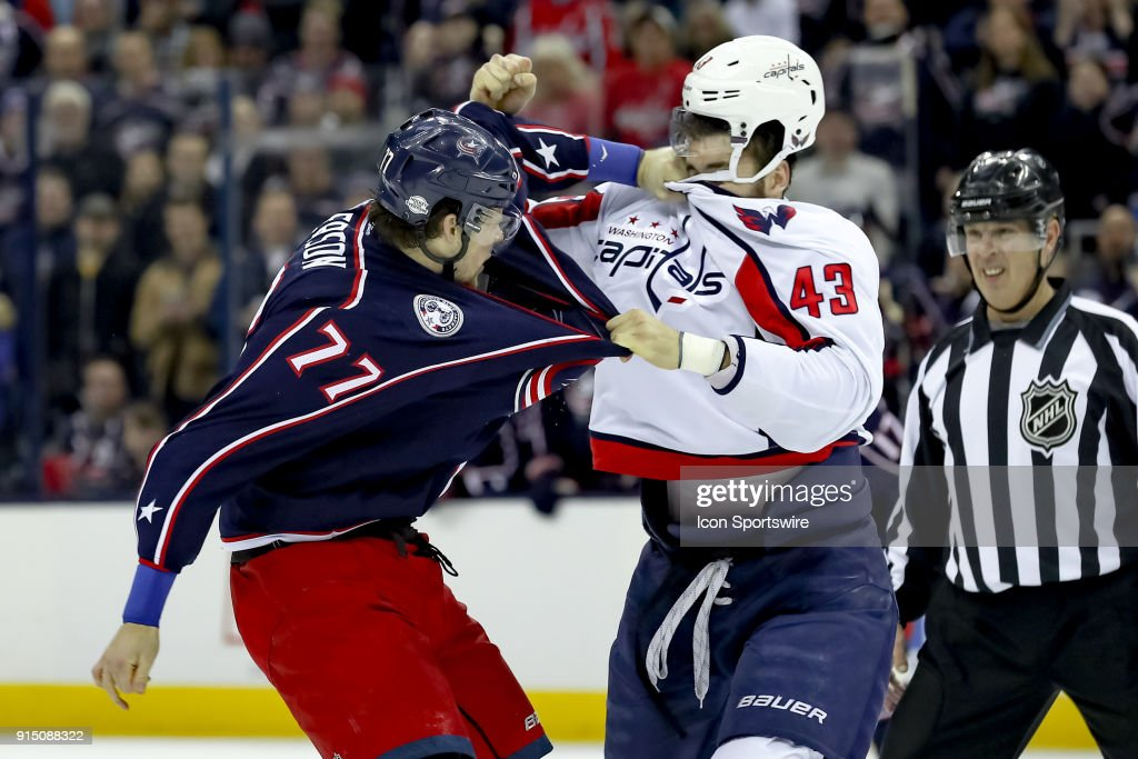 NHL: FEB 06 Capitals at Blue Jackets : News Photo