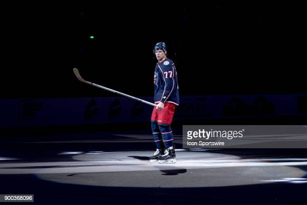 Columbus Blue Jackets right wing Josh Anderson skates the ice after a game between the Columbus Blue Jackets and the Arizona Coyotes on December 09...