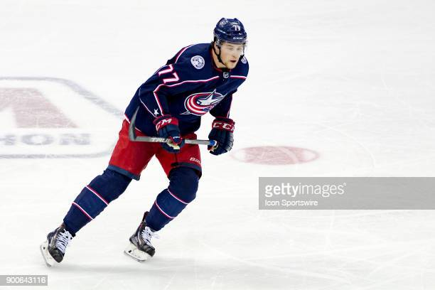 Columbus Blue Jackets right wing Josh Anderson skates the ice during a game between the Columbus Blue Jackets and the Toronto Maple Leafs on December...