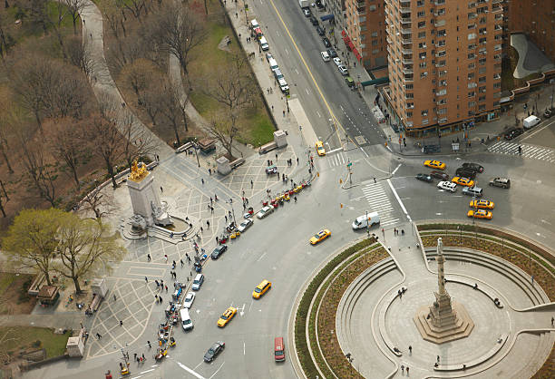 Columbus Circle and Cenral Park, Manhattan.