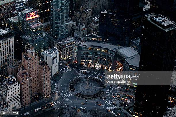 Columbus circle is seen from above on December 30 2014 in New York City