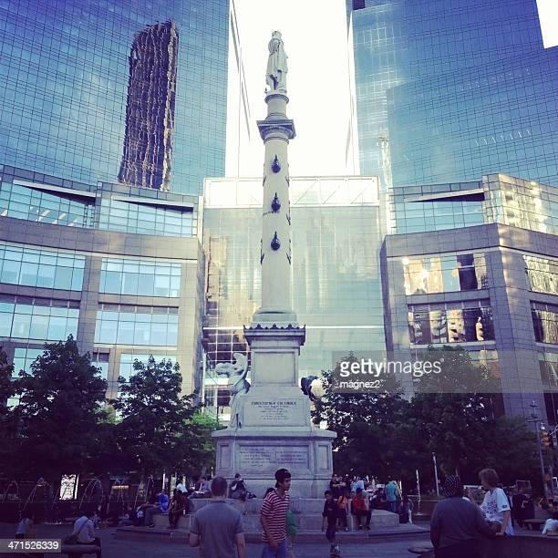 columbus circle ニューヨーク市 - タイムワーナーセンター ストックフォトと画像