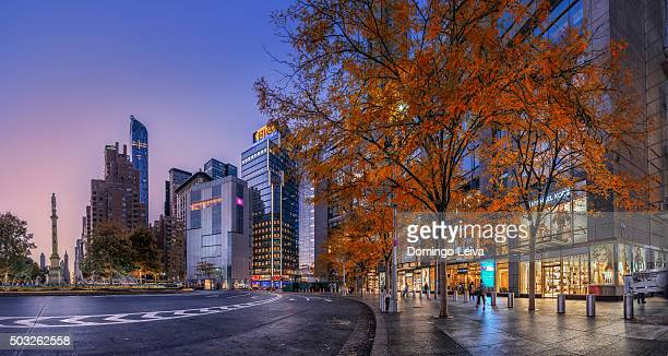 Columbus Circle panorama, New York City, USA