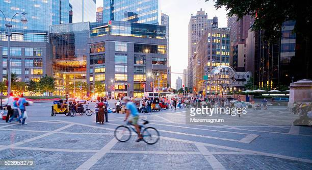 columbus circle - courtyard stock pictures, royalty-free photos & images