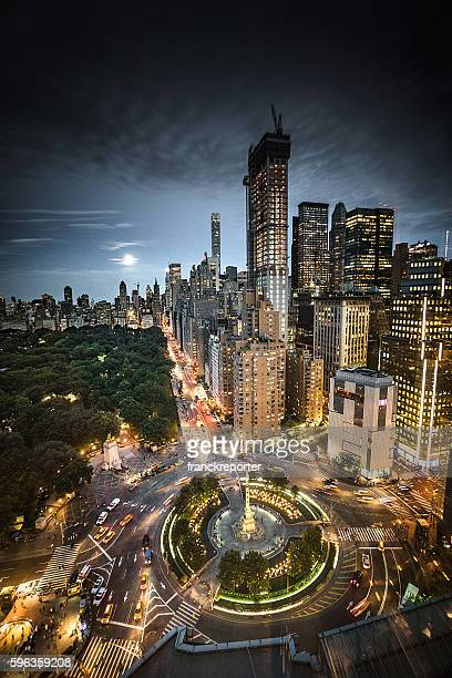 Columbus Circle square in Manhattan on the night