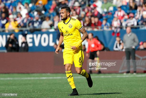 Columbus Crew midfielder Artur during a match between the New England Revolution and Columbus Crew SC on March 9 at Gillette Stadium in Foxborough...
