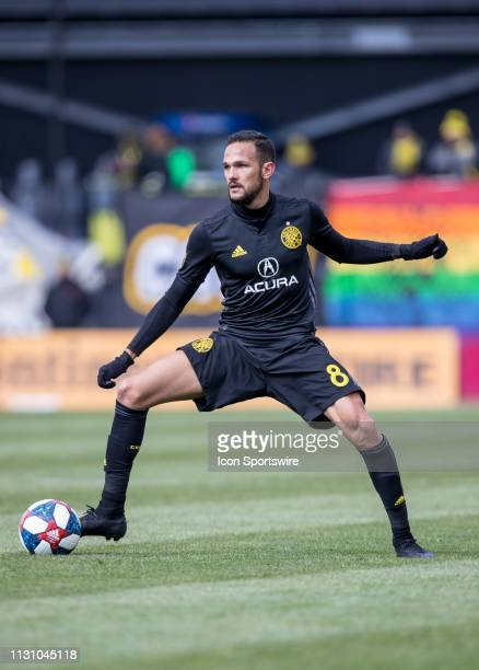 Columbus Crew SC midfielder Artur controls the ball in the MLS regular season game between the Columbus Crew SC and the FC Dallas on March 16 2019 at...