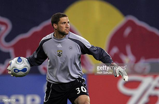 Columbus Crew's goalkeeper Andy Gruenebaum against the New York Red Bulls in an MLS game at Giants Stadium in East Rutherford NJ Saturday May 19 2007