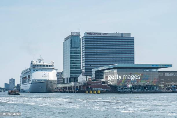 MV Columbus cruise ship  at the Amsterdam cruise terminal in Holland
